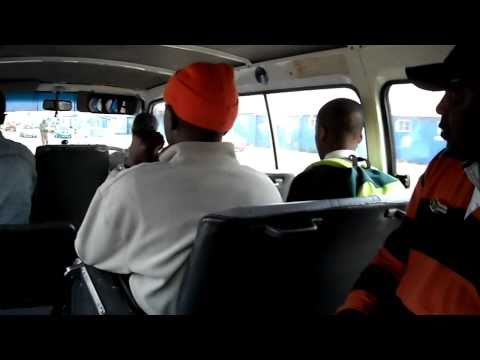 Taxi Ride in the New Brighton Township, South Africa
