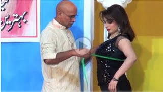 { Hot Nida Chaudhry with Saleem Albela } Sxy Mod  , Pakistani Punjabi Stage Drama Full Comedy HD width=