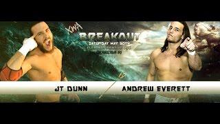 XWA JT Dunn prepares for Andrew Everett