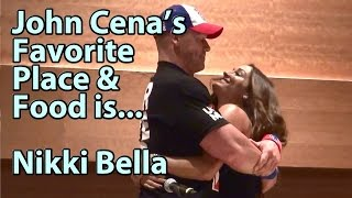 John Cena's Favorite Place & Food is Nikki Bella Complete Video Phoenix Comicon FanFest
