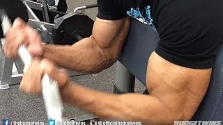 Bicep Exercise For Bigger Bicep Muscles!! @hodgetwins