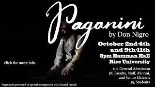 The Rice Players Present: Paganini