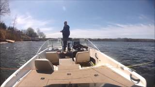 Sodus Bay spring fishing 2015 with a go pro