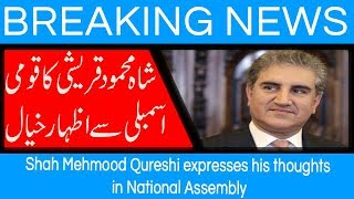 Shah Mehmood Qureshi expresses his thoughts in National Assembly | 17 August 2018 | 92NewsHD