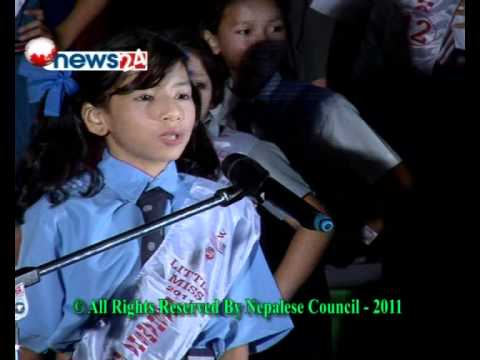 Little Miss World Nepal Final 25 to 36 Contestants , Organzied by Nepalese Council    Kathmandu Nepal