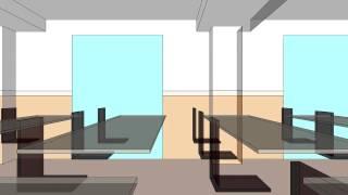 Paseo virtual aula de clase con sonido binaural