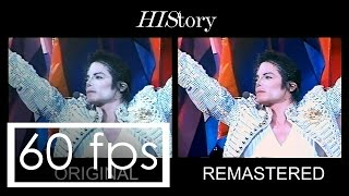 Michael Jackson | HIStory, live in Brunei 1996 - Comparison (original/remastered)