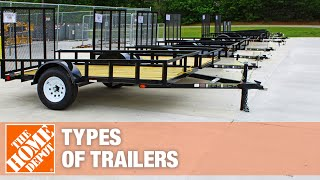 A video details the different types of utility trailers.