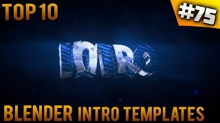 TOP 10 Blender intro templates #75 (Free download)