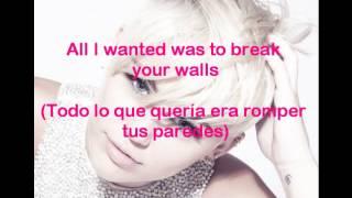 Wrecking Ball - Miley Cyrus (lyrics ingles+español)