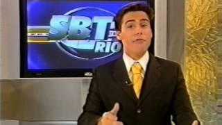 Ida para os comerciais do SBT Rio, com Luiz Bacci (SBT, 2009)
