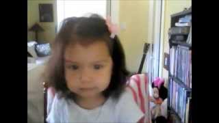 Baby Girl Sings Mash Up Of Songs- SO FUNNY!!