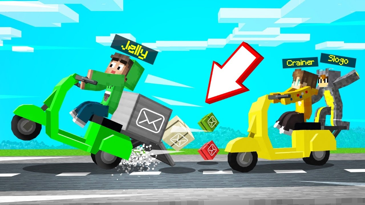 Jelly - We Started A DELIVERY SERVICE In MINECRAFT! (Funny)