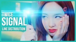 TWICE (트와이스) - SIGNAL (시그널) Line Distribution (Color Coded)