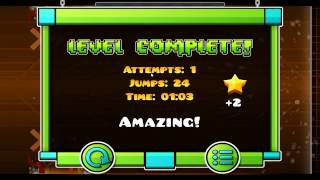 Geometry Dash: SAPPHIRE BY SUOMI (WaterFlame - Space Pirate) | TheFgas