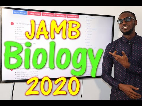 JAMB CBT Biology 2020 Past Questions 1 - 20