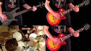 Mr. Brownstone Guns N' Roses Guitar Bass and Drum Cover