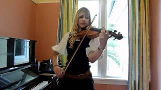 Lara plays Pirates of the Caribbean theme on violin