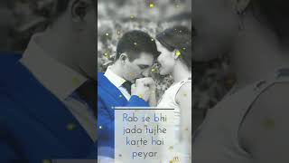 Dil ki h dhadkan ankho ka didar rab se bhi jada tujhe karte hai peyar. Most beautiful song status