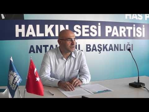 Has Parti Antalya İl Teşkilatı Veda ve Teşekkür Toplantısı Düzenledi