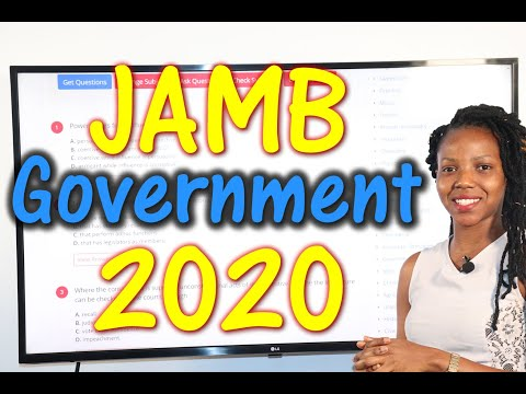 JAMB CBT Government 2020 Past Questions 1 - 20