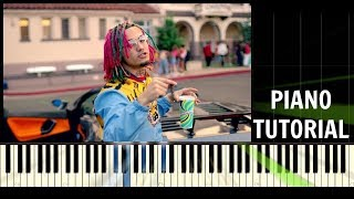 Lil Pump - Gucci Gang - Piano Tutorial / Cover - Improvisation - Synthesia (How To Play)