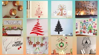 Wall decoration ideas on Christmas    Christmas decoration for wall   
