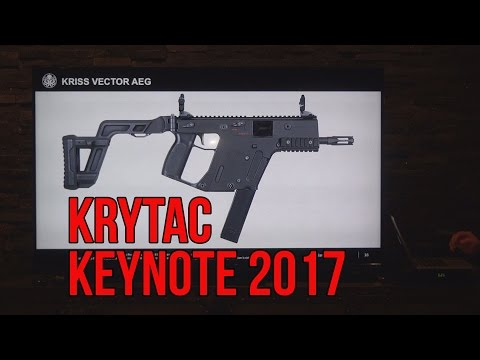 KRYTAC Keynote 2017 Presentation with KRYTAC KRISS Vector AEG and FosTech Origin 12