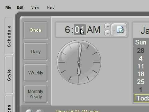 Free Virtual Alarm Clock for your PC
