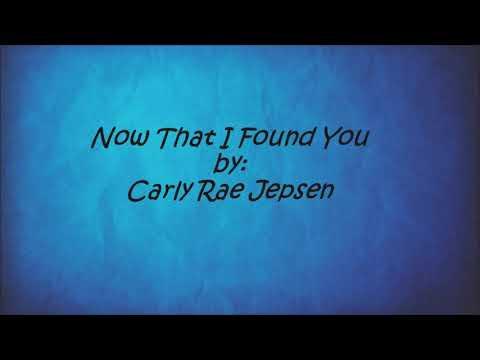 Download Now That I Found You By Carly Rae Jepsen Lyrics Youtube Youtube Thumbnail Create Youtube