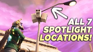 "ALL 7 STREETLIGHT SPOTLIGHT LOCATIONS! ""Dance Under Different Streetlight Spotlights"" Fortnite"