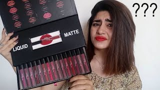 TESTING FAKE MAKE-UP PT.2 | HUDA BEAUTY LIQUID MATTE VAULT | GLOSSIPS