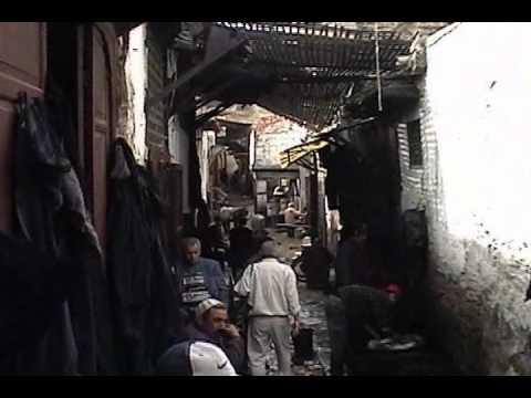 Walking through the Fes Medina in Morocco