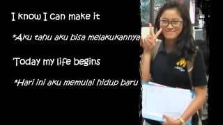 TODAY MY LIFE BEGINS; Bruno Mars; Cov. Ariane & Nicolas (Video Lyrics English - Indonesian)