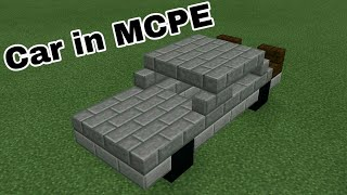 Working Car in MCPE | command block creation