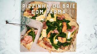 Pizza Caseira de Queijo Brie e Presunto Parma | Receitas Luanda Gazoni