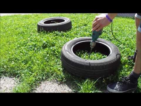 Come fare un pouf con i pneumatici fai da te mania