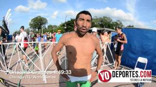 Crisanto Grajales en el triatlon de Chicago World series