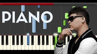 Farruko Obsesionado piano midi tutorial sheet partitura cover how to play