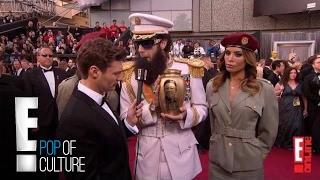 Sacha Baron Cohen Spills Ashes on Ryan Seacrest - 2012 Oscars   E!