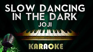 Joji - SLOW DANCING IN THE DARK | LOWER Key Piano Karaoke Version Instrumental Lyrics Cover