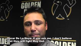 De La Hoya: Mayweather Is Scared Of Pacquiao