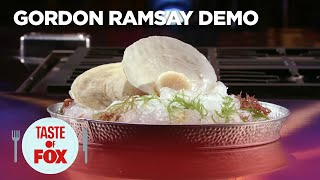 Gordon Ramsay Demonstrates The Perfect Way To Sear Scallops | TASTE OF FOX