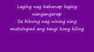 Tangi Kong Hiling Lyrics-Julie Anne San Jose
