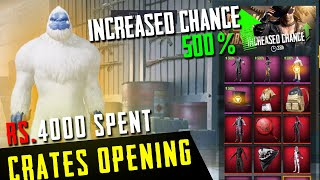 Massive crates opening in my Life I spent rs. 4000 [ 33 classic crates] pubg mobile