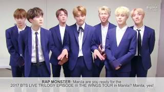 BTS GREETINGS for Wings tour in manila