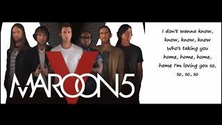 Maroon 5 - Don't Wanna Know ft. Kendrick Lamar (Lyrics)