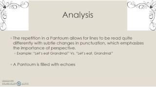 Pantoum Poems