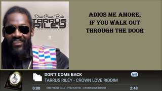 Tarrus Riley (Don't come back)