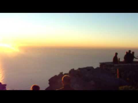 Por do sol no Table Mountain